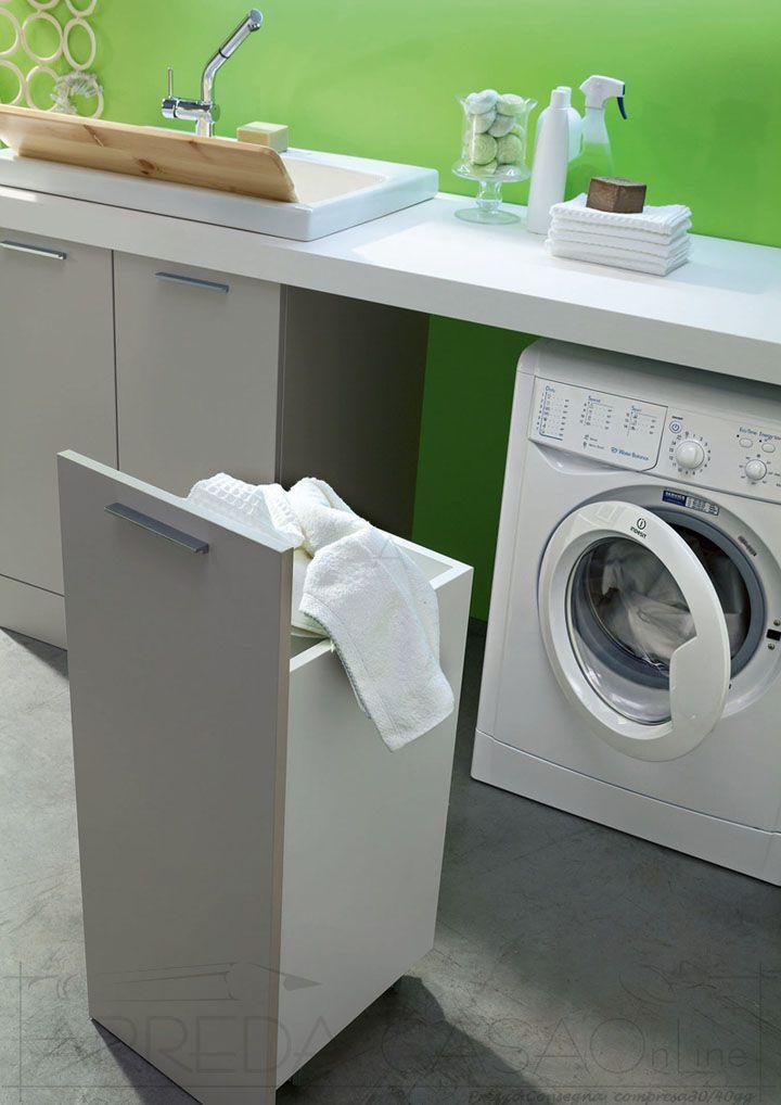 Mobile Bagno lavanderia carrello porta biancheria WD01  eBay