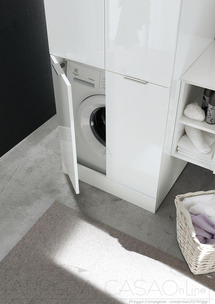II Mobile Bagno lavanderia colonna porta lavatrice WD08