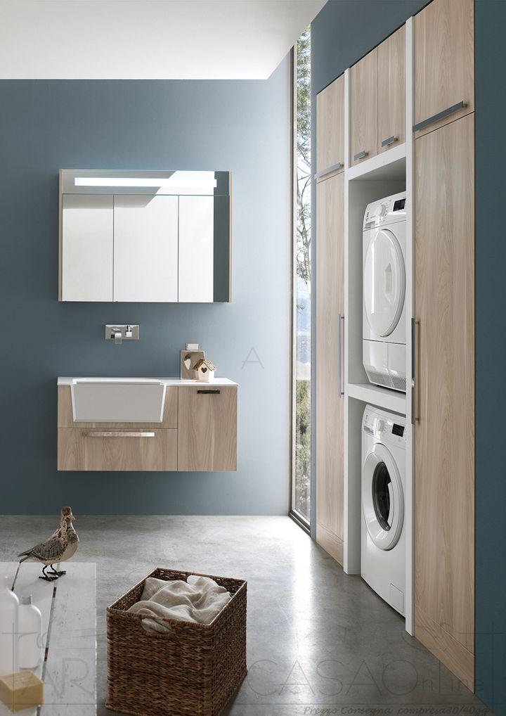 II Mobile Bagno lavanderia portalavatrice asciugatrice