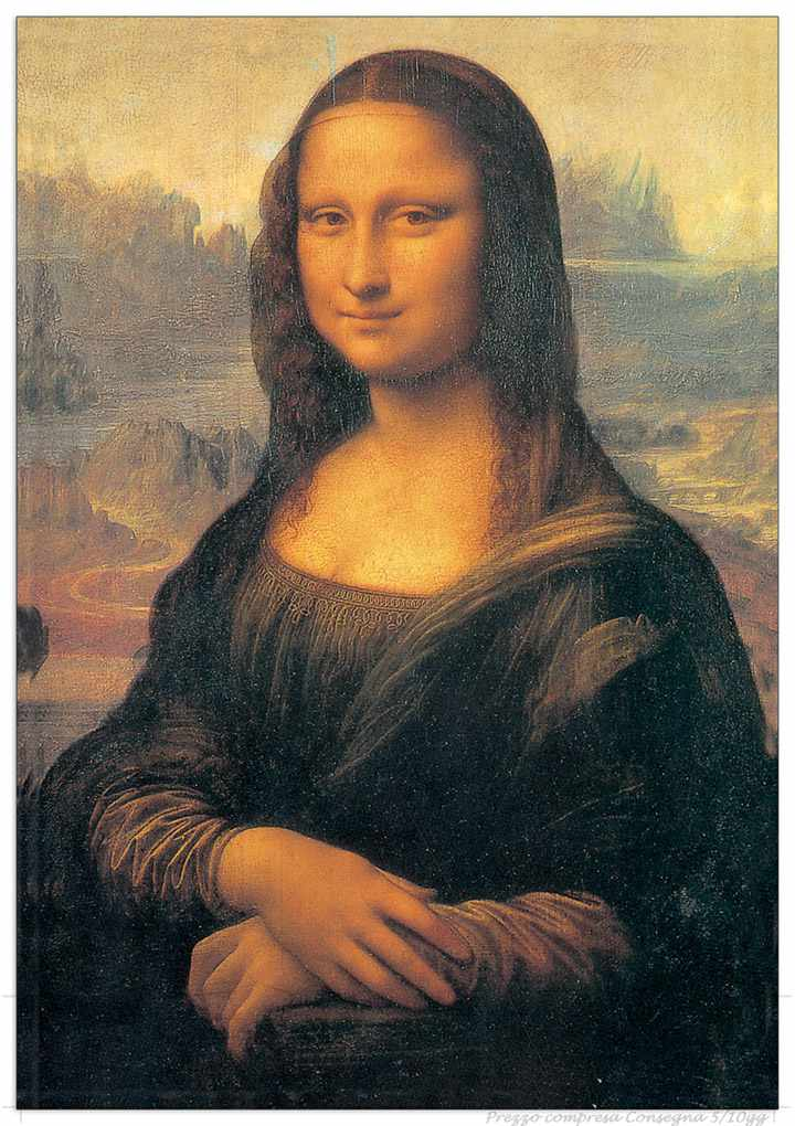 II Quadro Stampa DA VINCI MONNALISA EC15121  Offerta web  Museo  Prezzi Offerte Sconti