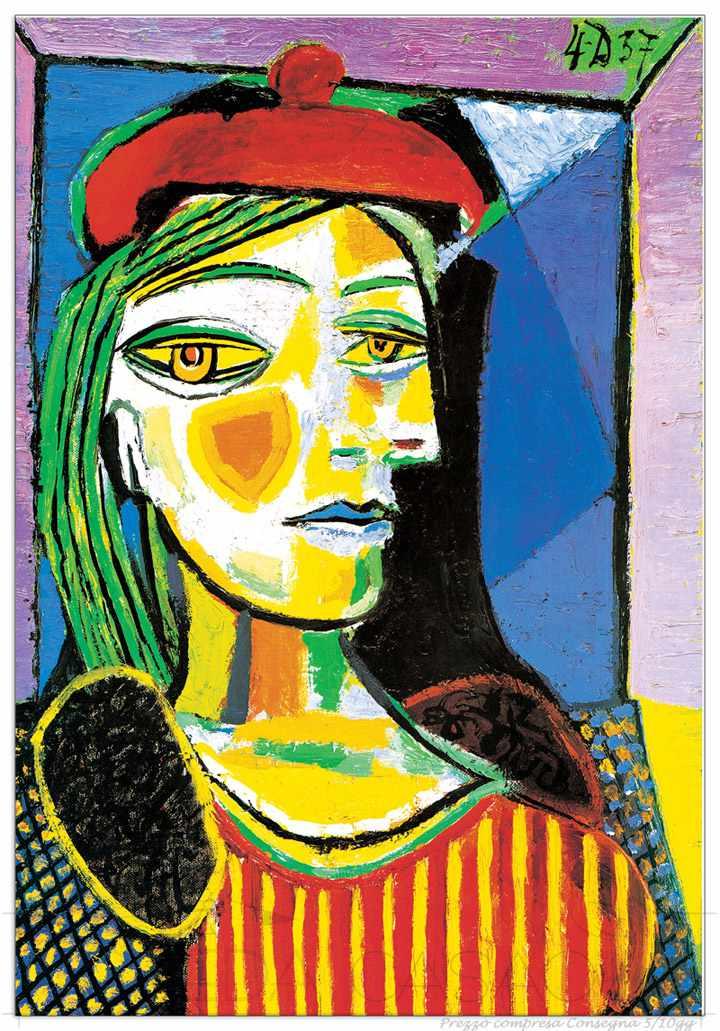II Quadro Stampa PICASSO Femme au beret rouge EC17228