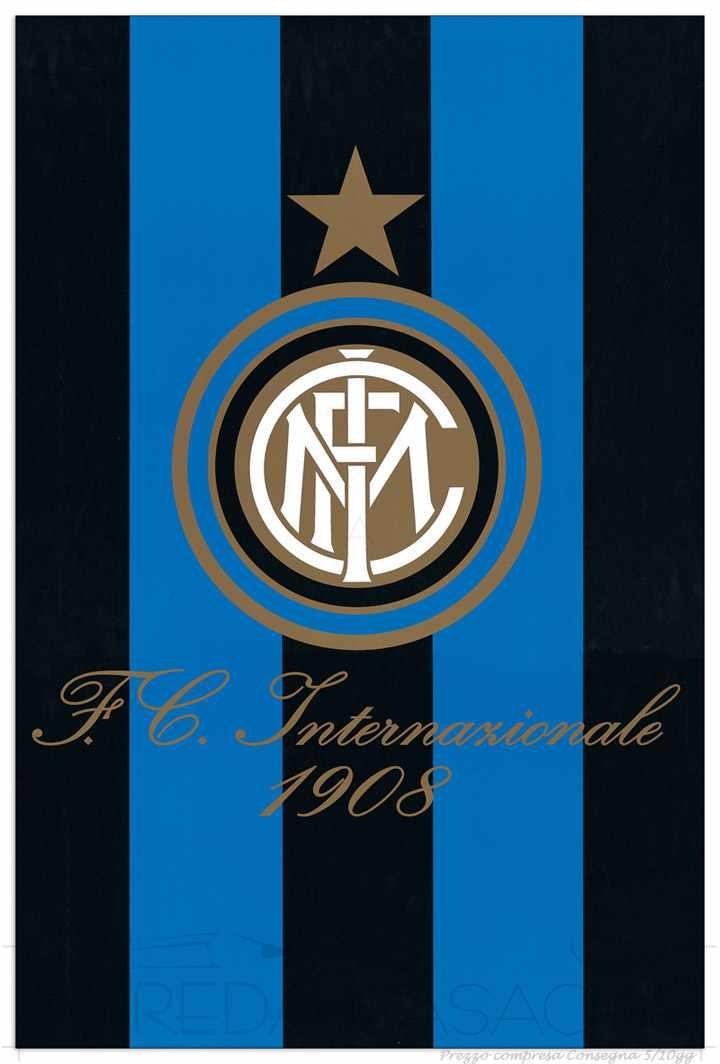 II Quadro Stampa INTER FC Internazionale 1908 EC21450  Vendita web  Decorativi  Prezzi