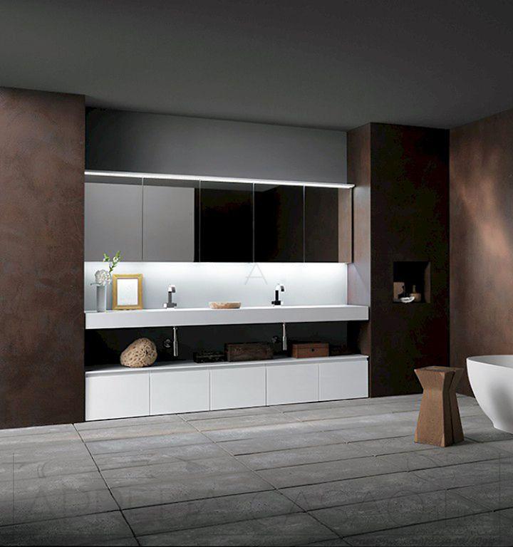 Mobile arredo bagno bianco lucido top sospeso Ink NK04  Prezzo ARREDACASAOnLine