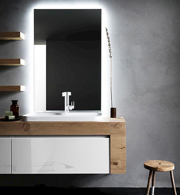 II Mobile arredo bagno Ink NK13 piano e fianco legno rovere 12cm  2000 3000 euro  Prezzi