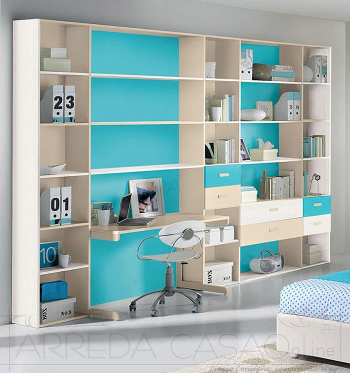 II Libreria per cameretta bambini GT0001LIB  Moderne Girotondo  Prezzi Offerte Sconti