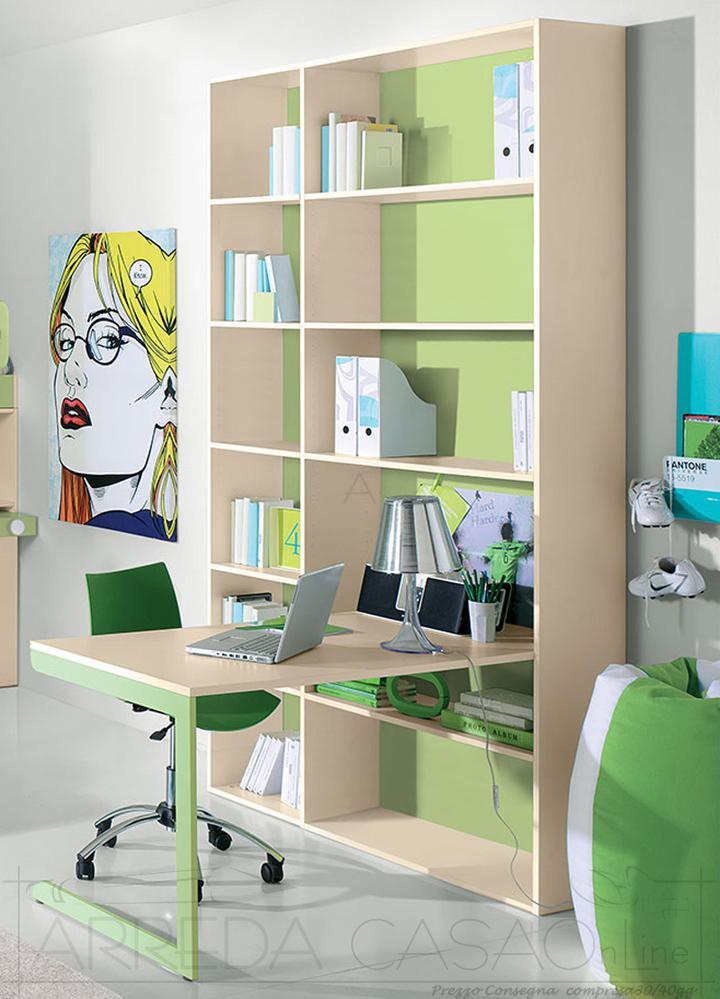 II Libreria e scrivania cameretta bambini GT0020LIB