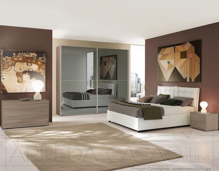 II Camera letto matrimoniale armadio scorrevole a specchi