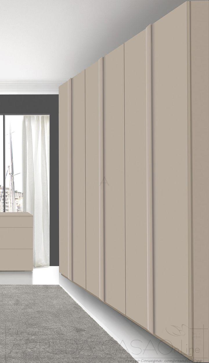 II Armadio camera letto 6 ante battenti laccato opaco