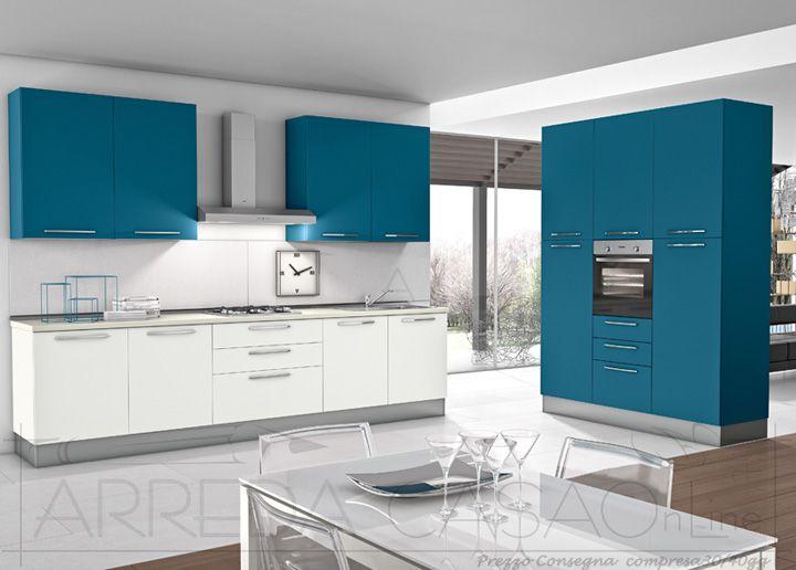 II Cucina moderna completa 2 colori colonna forno