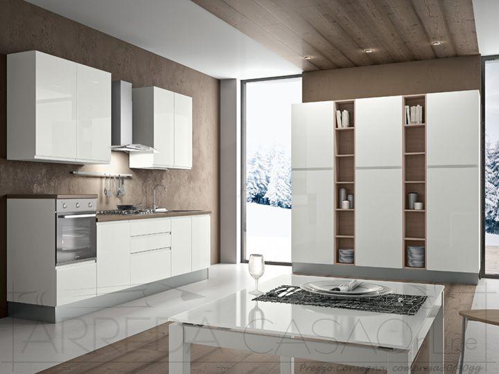 II Cucina completa componibile colonna frigo e dispensa Sesamo k0016  Cucine Valentini
