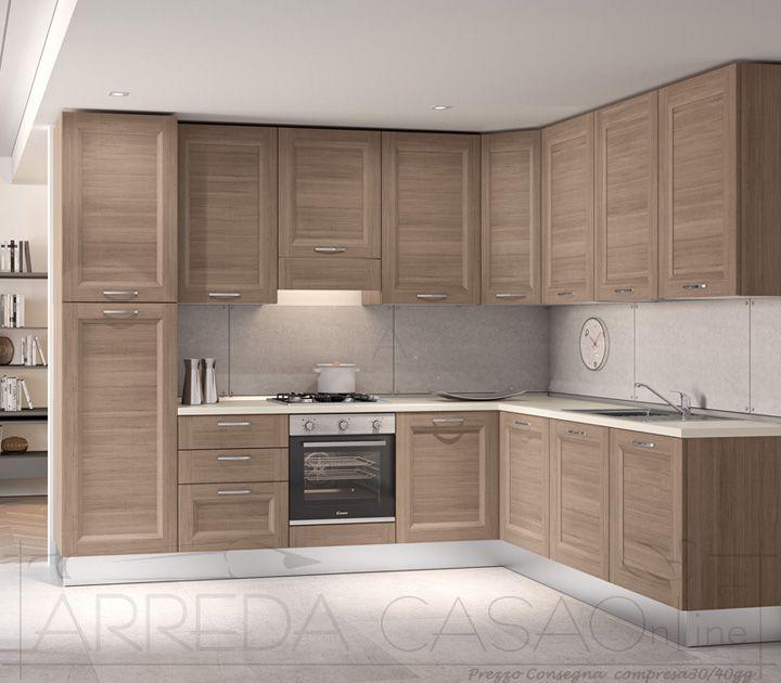 II Cucina componibile angolare legno larice scuro