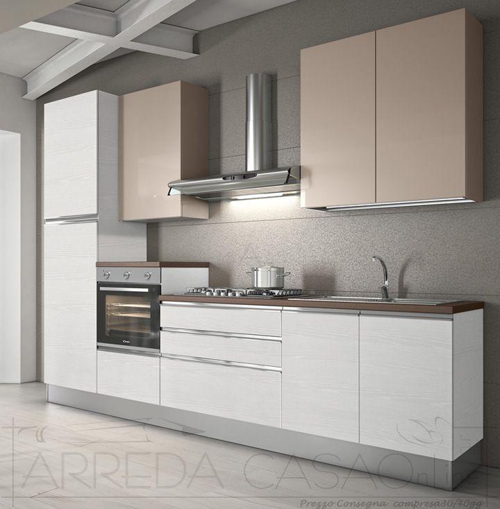 II Cucina moderna componibile 2 colori Cumino Zafferano k0032  Cucine Valentini Cucinando