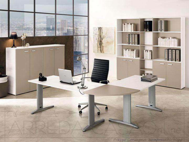 II Mobili per ufficio componibili frassino bianco visone