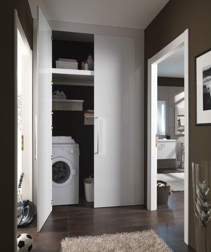 Idee  Armadio corridoio su misura per ricavare lavanderia