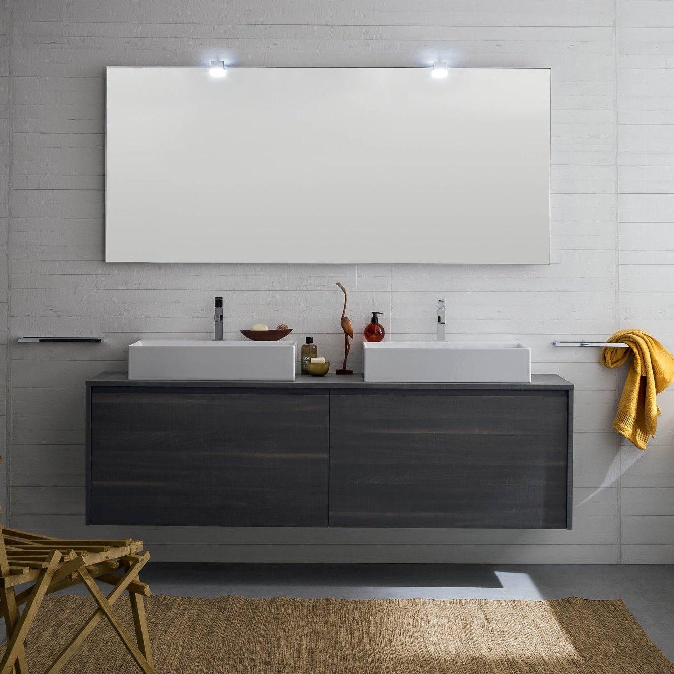 Idee  Un bagno per due mobile con doppio lavabo  ARREDACLICK