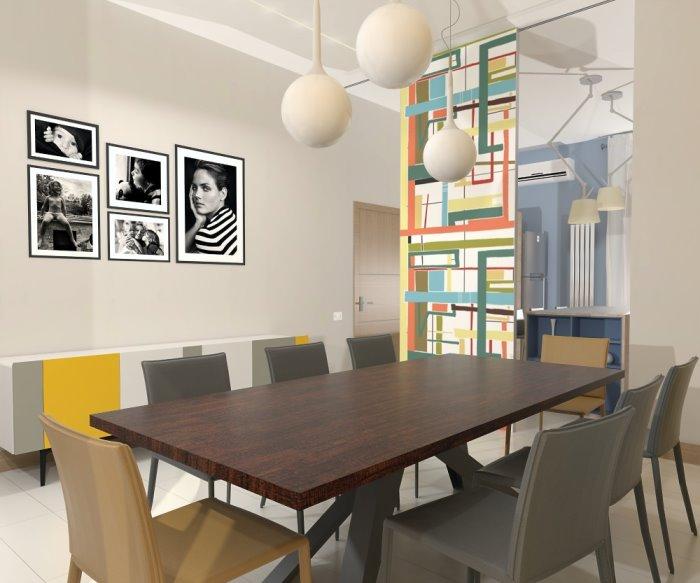 Idee  Il progetto unidea per dividere cucina e sala da