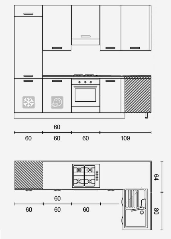 Idee  Il progetto di Matteo soggiorno stretto e lungo con cucina ad angolo  ARREDACLICK