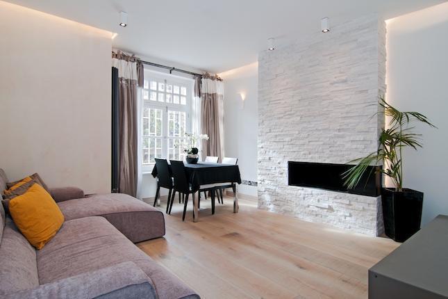 Idee  Progetto a Londra Kensington arredare casa in bianco e beige  ARREDACLICK