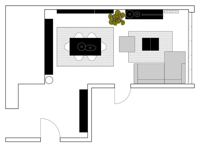 Salotto e sala da pranzo idee di decorazione per interni for Sala da pranzo e soggiorno insieme