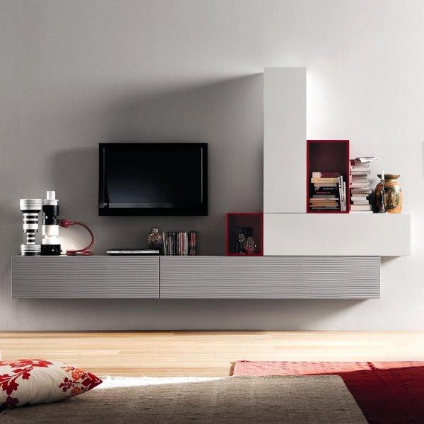 Idee  10 pareti attrezzate per arredare un soggiorno moderno  ARREDACLICK