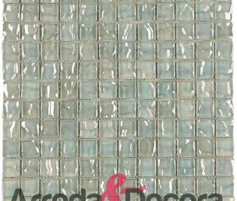 Mosaico in vetro effetto bianco mod cayman nacar