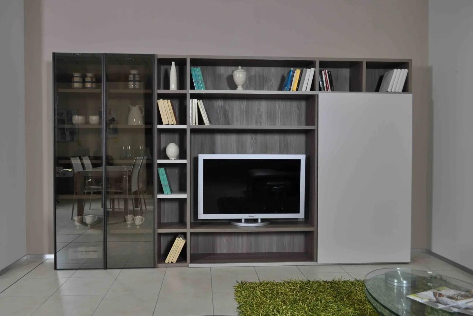 Parete soggiorno libreria Novamobili in offerta a Torino