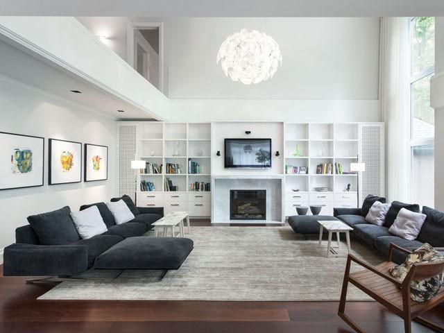 Arredare la zona living con i mobili grigi