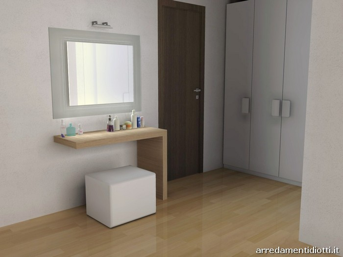 camera da letto dove l'eleganza veste la contemporaneità. Camera Quarancinque Con Zona Toilette Diotti A F Arredamenti