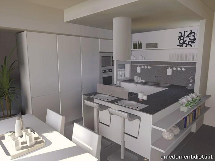 Cucina angolare con penisola moderna Dream  DIOTTI AF