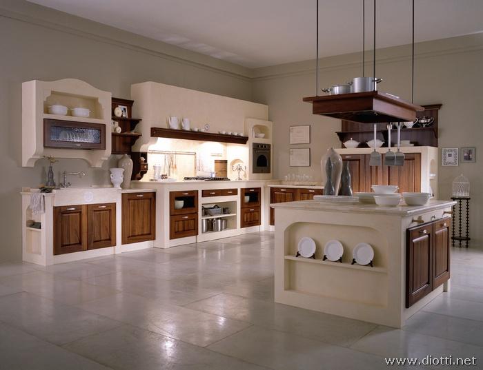 Cucina muratura country  arredare casa  cucine a legna economiche