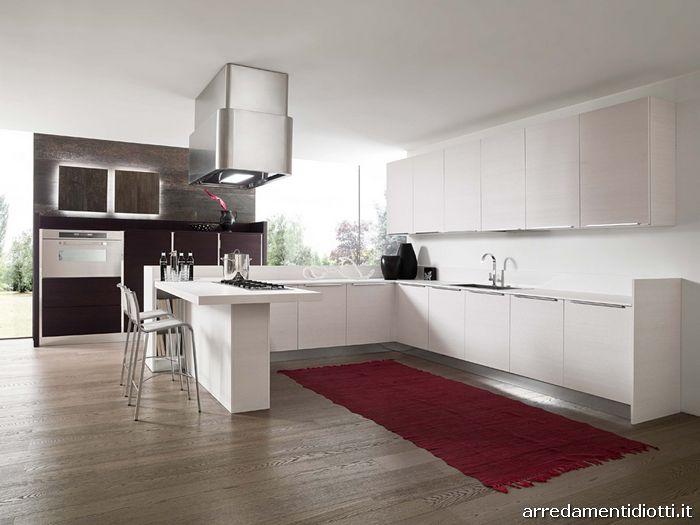 Cucina in legno e laccato lucido Sfera  DIOTTI AF