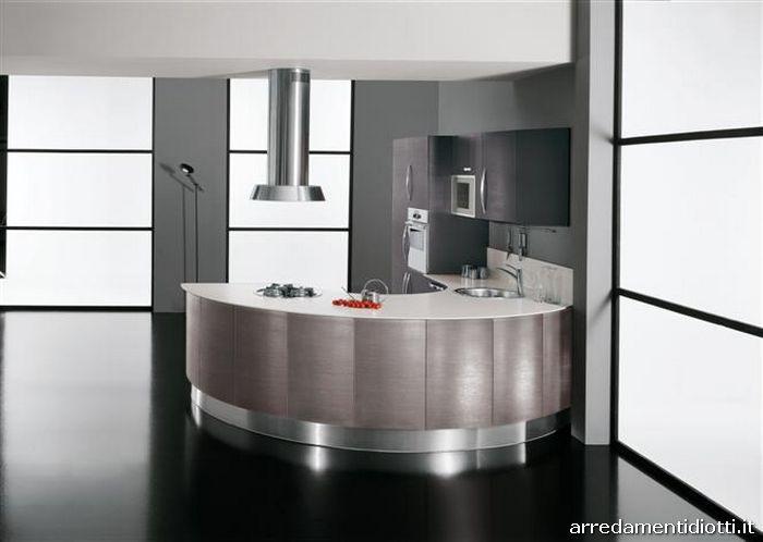 Cucina rotonda Geosfera con penisola curva  DIOTTI AF