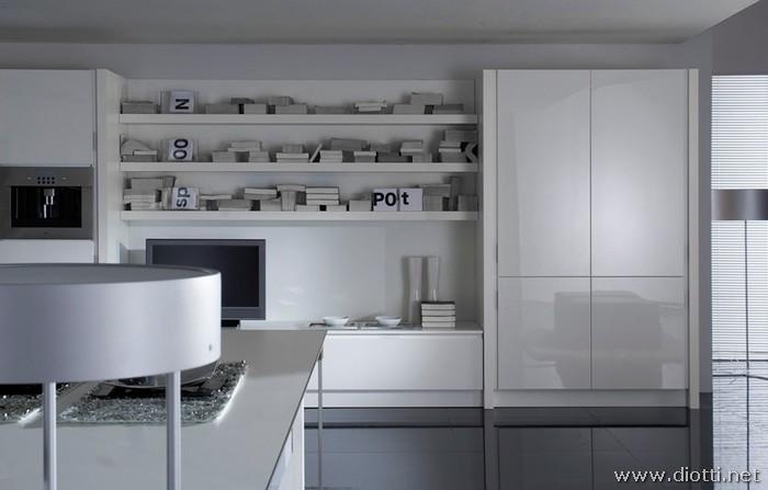 Cucina laccata bianca  DIOTTI AF Arredamenti