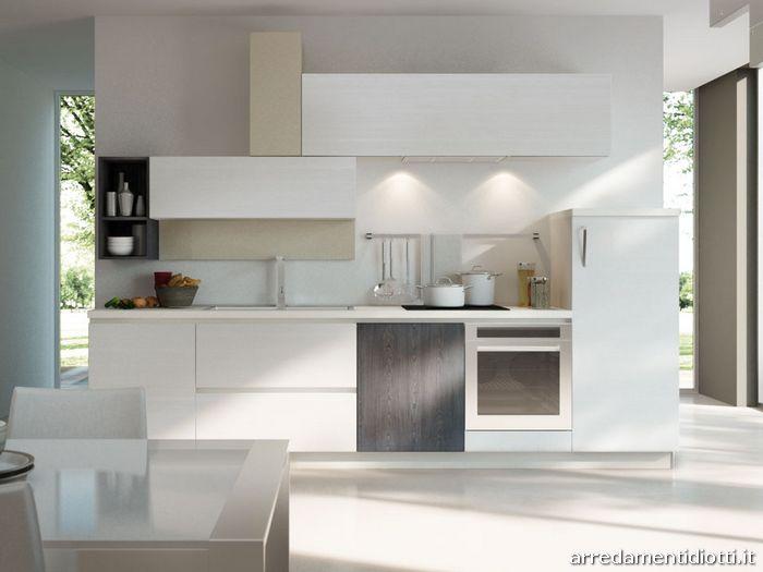 Cucina moderna componibile in melaminico Spring  DIOTTI AF Arredamenti