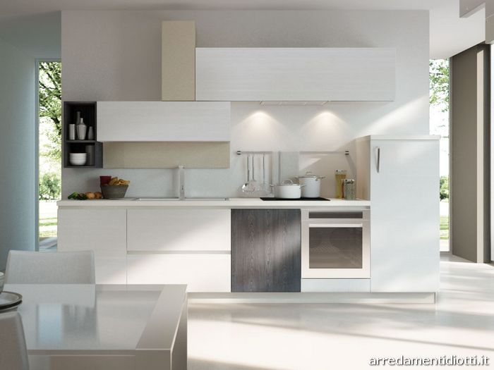 Cucina moderna componibile in melaminico Spring  DIOTTI A