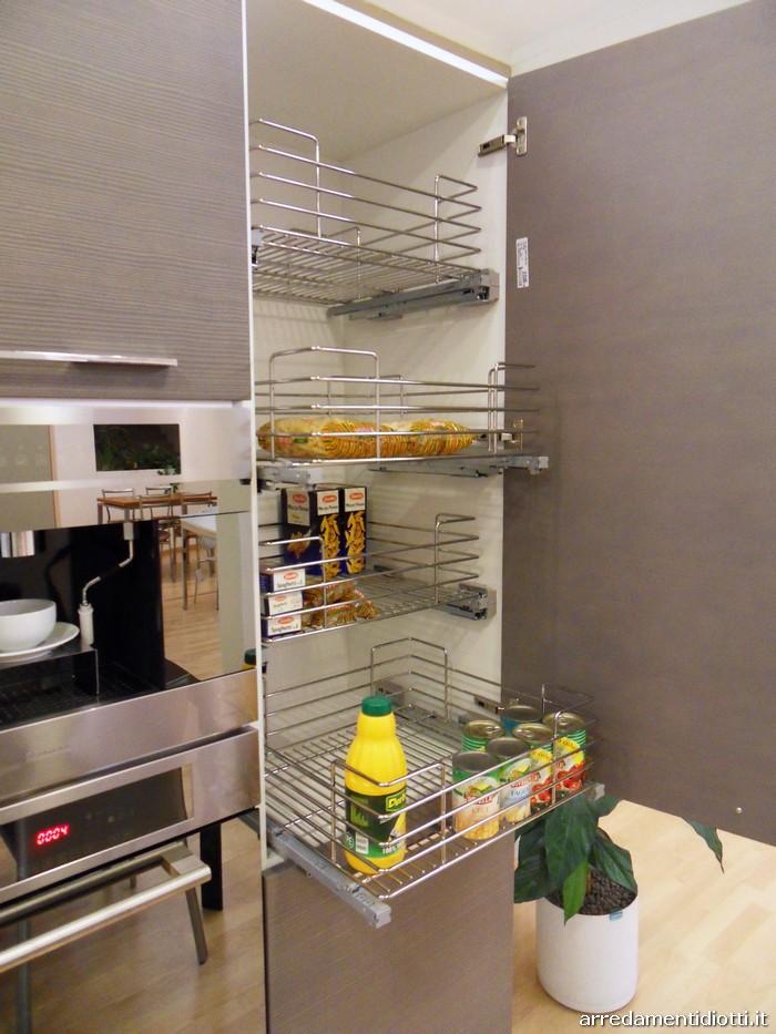 Cucina Sfera larice moderna con penisola  DIOTTI AF