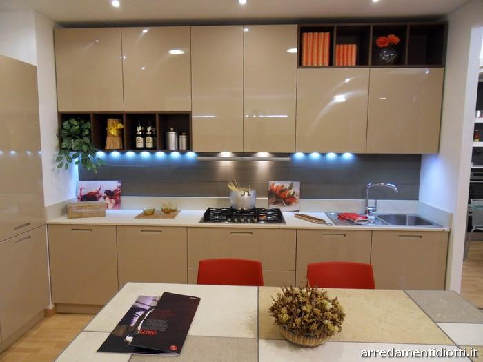 Cucina di design con pensili giorno Logica Link  DIOTTI AF Arredamenti