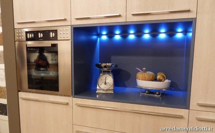 Cucina Grafica moderna in legno rovere gesso  DIOTTI AF