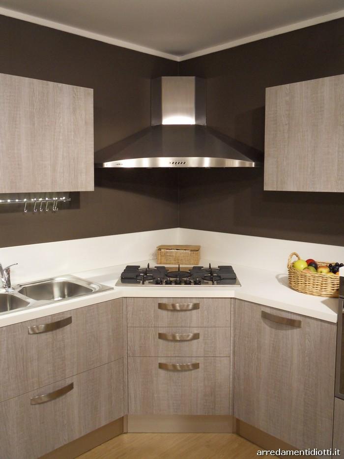 Cucina Moderna Rovere Grigio