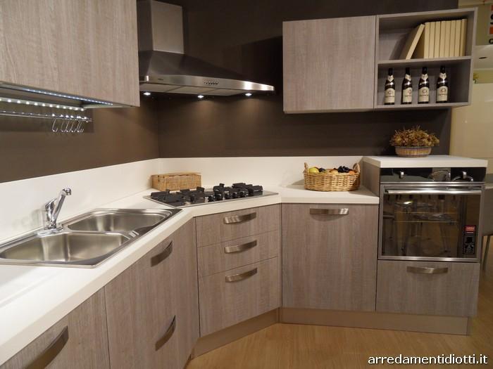 Cucina moderna angolare Grafica tranch ghiro  DIOTTI AF