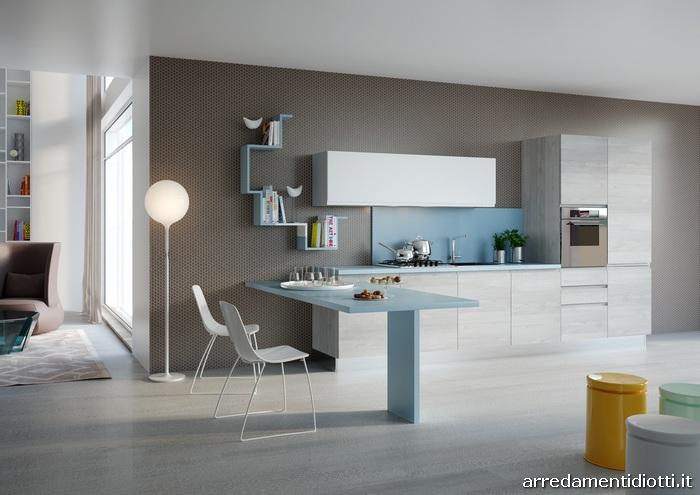 Cucina moderna con maniglia pantografata Smile  DIOTTI AF Arredamenti