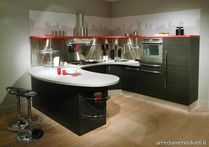 Cucina componibile con top curvo Skyline  DIOTTI AF