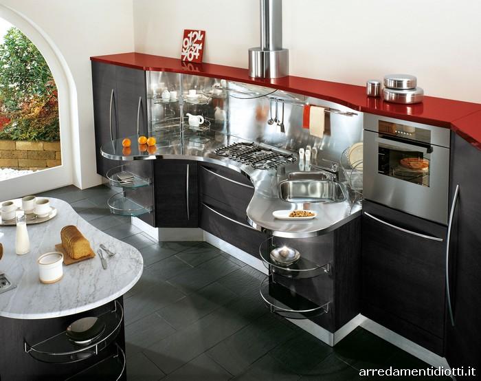 Cucina componibile con top curvo Skyline  DIOTTI AF Arredamenti