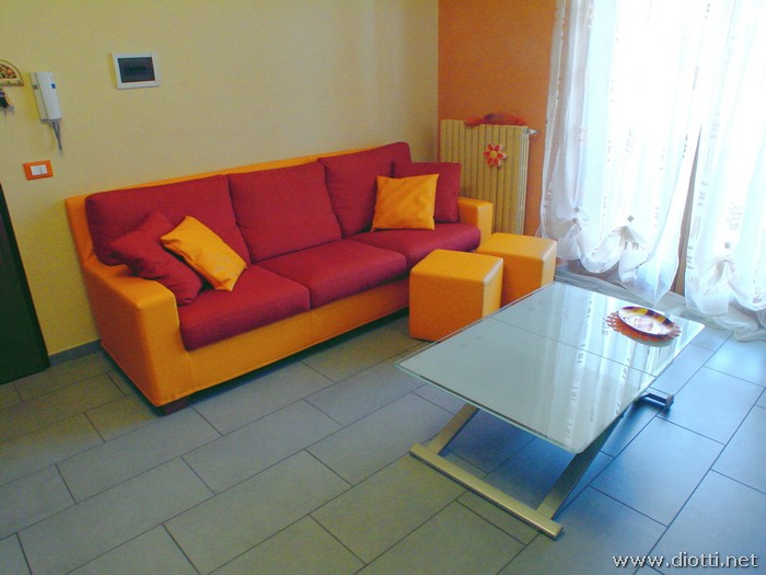 Orange and weng furniture for a customers flat  DIOTTI