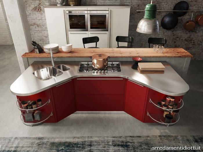 Cucina ergonomica componibile sagomata Skyline 20  DIOTTI AF Arredamenti