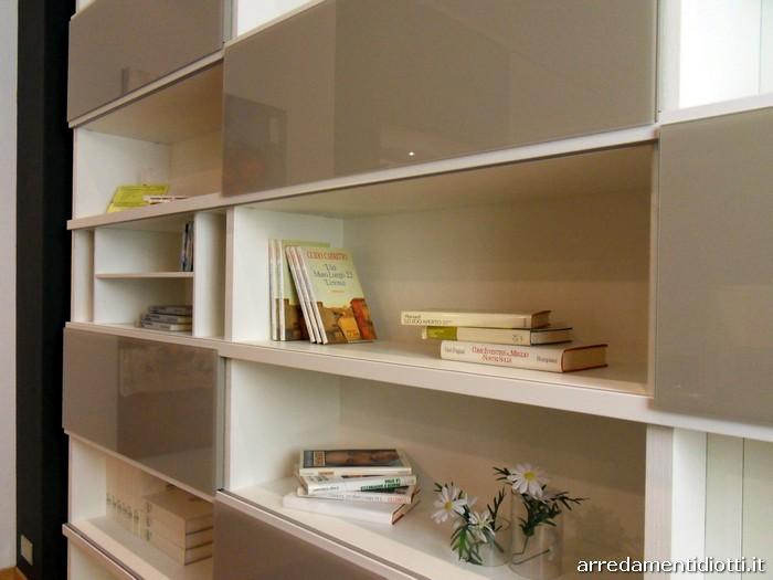 Libreria con ante in vetro  DIOTTI AF Arredamenti