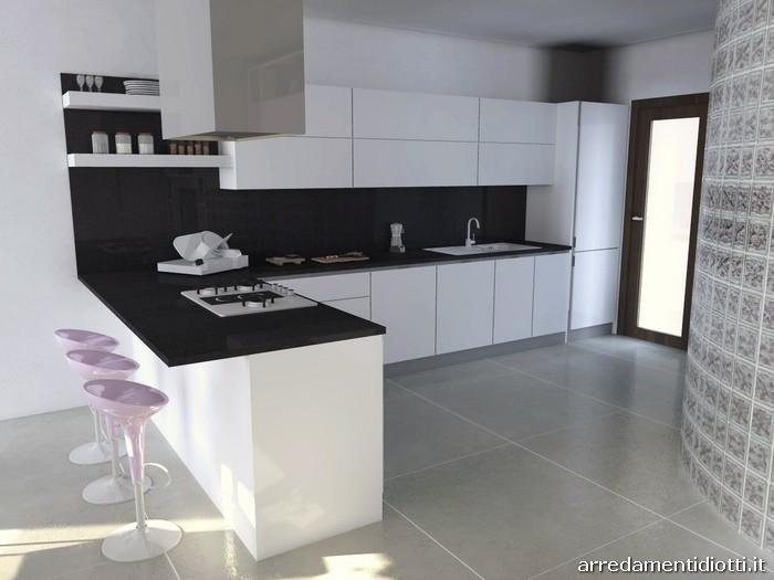Cucina Horizon laccata bianco lucido  DIOTTI AF Arredamenti