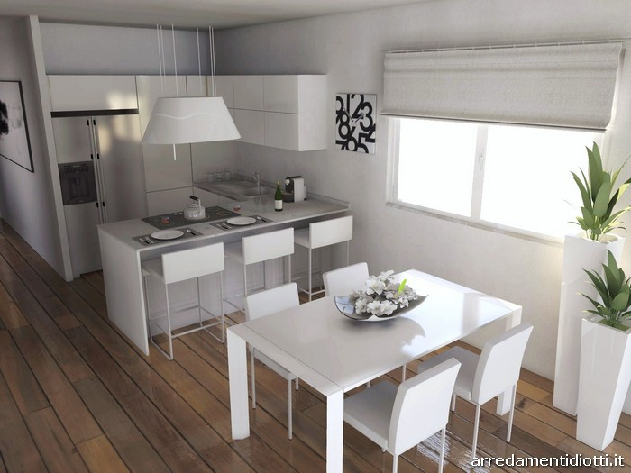 Cucina Horizon lucida Soggiorno Link  DIOTTI AF Arredamenti