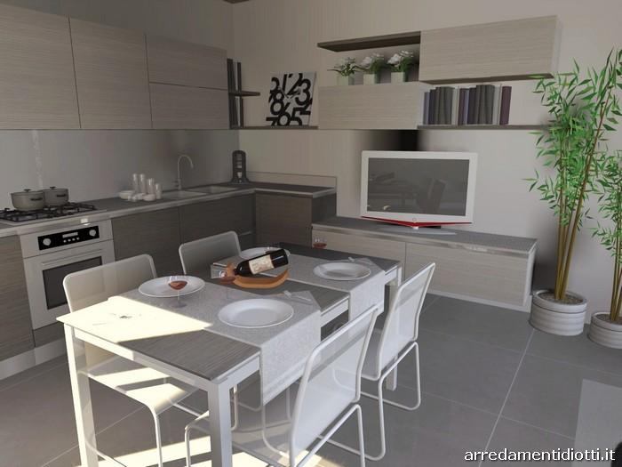 Cucina con soggiorno moderno living Easy13  DIOTTI AF Arredamenti