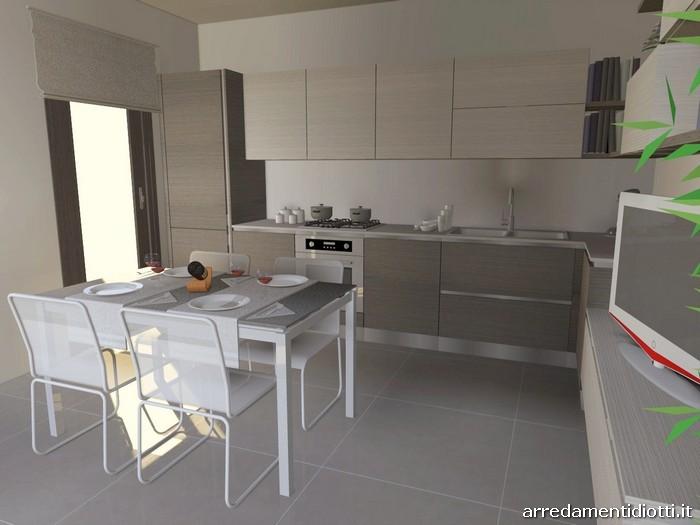 Cucina con soggiorno moderno living Easy13  DIOTTI AF